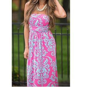 Dresses & Skirts - Wrapped Chest Strapless Maxi Dress